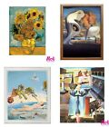 Van Gogh, Dali, Monet -  Painting By Numbers by MOLLY with Wooden Frame
