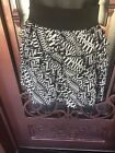 BCX womens tiered Black And White mini skirt pull on wide waistband size Medium