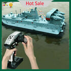 HG-C201 1/110 Warship Brushless Motor RC Boat 2.4G Ship Landing Watercraft Model