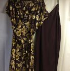 WOMENS LANDS END 2PC SPRING /SUMMER DRESS PLUS SUZE 20w CAP SLEEVES