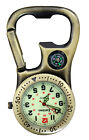 Entino Clip-On Carabiner FOB Watch Compass and Bottle Opener for Doctors Nurses