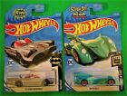 2019 Hot Wheels 1966 TV Series Batmoblie and Scooby-Doo Batmobile Lot of 2