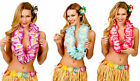 Ladies Large Two Tone Petal Lei Hawaiian Hula Summer Beach Party Garlands