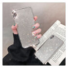 Bling Glitter Crystal Silver Protective Full Diamond Case Cover For i Phone XS 8