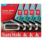 SanDisk 16GB 32GB 64GB 128GB 256GB Cruzer GLIDE USB 3.0 Flash Drive Retail Lot