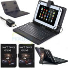 "Universal For 9.7"" 10"" 10.1"" inch Tablet Leather Stand Case Cover w/ Keyboard"
