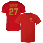 Mike Trout T-Shirt Los Angeles Angels MLB Regular/Soft Jersey #27 (S-3XL) Gold on Ebay