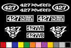427 CI V8 POWERED 10 DECAL SET ENGINE STICKERS EMBLEMS FENDER BADGE DECALS