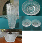 BOHEMIAN QUEEN LACE CRYSTAL HAND CUT BOWL VASE PICK ONE