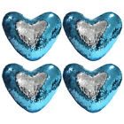 1/2/4pcs Throw  Pillow Case Set Mermaid Sequin Glitter Sofa Cushion Cover Decor image