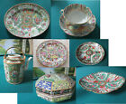 ANTIQUE CHINESE ROSE MEADALLION CUP SAUCER TRAY 19TH C - PICK ONE