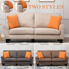 Kyпить Upholstered Loveseat Sofa 2Style 3Color Linen Fabric 3 Seater Couch Futon Modern на еВаy.соm