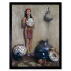 Couse Pottery Vendor Native American Ceramics Painting Art Print Framed 12x16