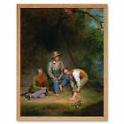 Le Clear Boys Fishing Painting Art Print Framed 12x16