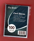 """PENNY SLEEVES CARD SOFT 50 (100) (500) CARDBOARD GOLD 2 5/8""""x3 5/8 FOOTBALL PICK image"""