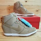 Nike Dunk Sky Hi Essential Women's Sneaker Desert Camo Hidden Wedge 644877-200