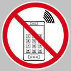 5 Stickers 15cm Mobile Phones not Permitted Handy Smartphone Use Calls Verboten
