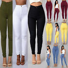 Women Skinny Pencil Pants High Waist Stretch Slim Cotton Jegging Trousers Bottom