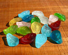 PICK COLOR 6pcs 15mm Small Carved Leaf sea beach glass beads frosted recycled