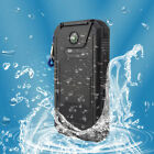 US 50000mAh Solar Power Bank Waterproof 2USB 2LED Battery Charger For Cell Phone