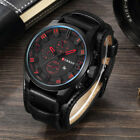 Curren Watch Military Quartz Wristwatches Leather Man's Casual Sports Watches image