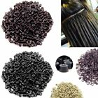 1000pcs 5mm Silicone Lined Micro Beads Rings Tube For Hair Extension Link Tip Jr