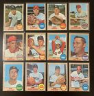 1968 Topps Baseball Cards  -Pick n Choose -  Cards #72 to #526 - EXMT to NRMT+