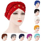 US Women Lady Muslim Braid Head Hijab Turban Wrap Cover​ Cancer Chemo Cap Hat h8