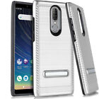 For Coolpad Legacy - Hybrid Brushed Shockproof Hard Impact Kickstand Armor Case