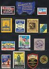 Lot of 14 US Poster Stamps of Dated  Events
