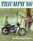 08019 1966 TRIUMPH MOTORCYCLE AD ART Wall Print POSTER UK £27.95 GBP on eBay