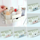 Wall Mounted Cosmetics Holder Multipurpose Organizer Drawer Compartments Box HL