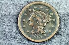 Estate Find 1849 - Braided Hair Large Cent!!   #J03295