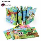 Colorful Farm Animals Baby First Book Non-Toxic Fabric Soft Cloth Book Children