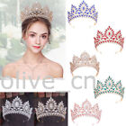 85cm High Crystal Large Wedding Bridal Party Pageant Prom Tiara Crown 7 Colors