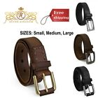 Kids Leather Belt Genuine Casual Boys Clothing Accessories Small Medium Large
