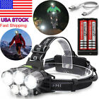 250000LM 5XT6 LED Headlamp Rechargeable Head Light Flashlight Torch Lamp 18650