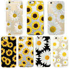Sunflower Daisy Soft TPU Phone Case Cover Luxury For iPhone 6 6s 7 8 Plus X Max