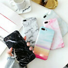 For iPhone X 6 8 7 Plus Max Pastel  Soft Shockproof Marble Pattern Cover Case