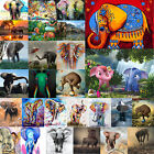 DIY Diamond Drill Elephant Painting Embroidery Cross Stitch Kits Craft Home Gift $7.02 AUD on eBay