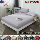 US Protector Elastic Pure Waterproof Cotton Mattress Cover Bed  Full Queen King image