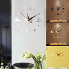 Modern Large Wall Clock 3D Mirror Sticker Unique Big Number Watch DIY Decor #yi