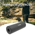 Outdoor 14mm CCW Barrel Extension Silencer Muffler Suppressor Hunting Tool