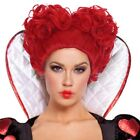 Alice in Wonderland Red Queen Wig Women Short Curly Wavy Red Cosplay Full Wig