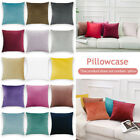 Velvet Cushion Cover Throw Pillow Case Sofa Car Home Decor Zip Up Modern HL
