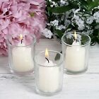 12 pcs Round Votive Tealight Candles with Clear Glass Holders Centerpieces Sale