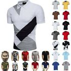 Men Polo Shirts Summer Short Sleeve Slim Fit T-Shirt Golf Sport Casual Tops Tee image