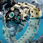 Men Sport Military Camo Wrist Watch Outdoor Backlight Digital Date Alarm Watches image