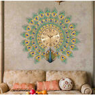 Large Wall Clock Peacock Clock Metal Zircon Creative Fashion Home Gift