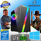 Fast Quad Core I5 Gtx 1650 Gaming Pc 16gb Ram Ssd & Hdd Win 10 Desktop Computer